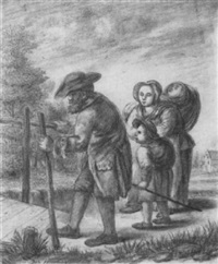 bettlerfamilie auf der wanderschaft by jacob homburg