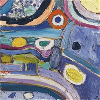 blue daze by gillian ayres
