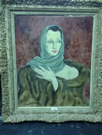 portrait de femme by ludwig kainer
