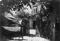 vue de la maison familiale de conflans-sur-anille by alphonse louis poitevin