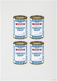 soup can (quad) by banksy