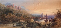 the castle and town of heidelberg on the neckar by edward richardson