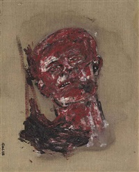 head-napalmed by leon golub