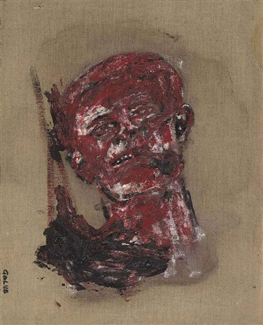 head napalmed by leon golub