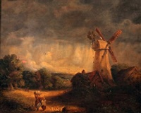 figures before a mill by james smyth