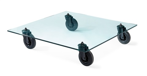 a gae aulenti sofa table tavolo con ruote by gae aulenti