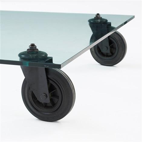 A gae aulenti sofa table tavolo con ruote by gae aulenti - Tavolo con ruote ...