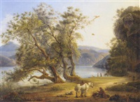 by the shore of lake castel gandolfo by michelangelo pacetti