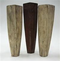hexagonal vases (various sizes; set of 3) by sharon albert