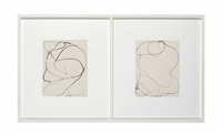 untitled (diptych) by brice marden