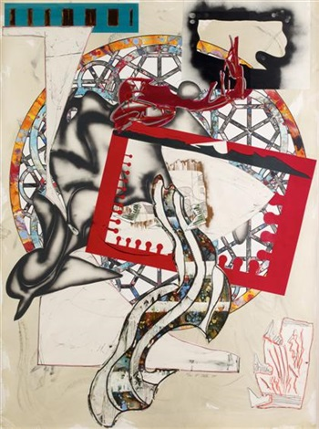 the pacific from the waves i by frank stella