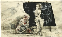 untitled (from summer graffiti series) by william kentridge