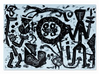 composition grey & black by a.r. penck