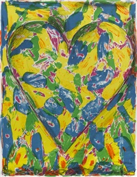 blue heart by jim dine