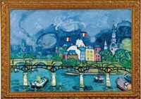 paris, le pont des arts by paul aïzpiri