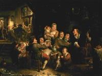 wirtshausszene mit musikanten by henricus engelbertus reijntjens