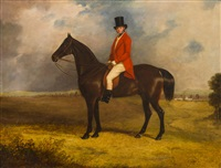 a squire on his horse by henry calvert