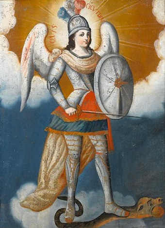 the archangel michael by peruvian school cuzco