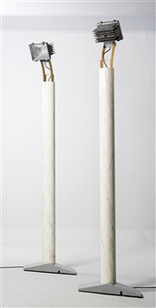 kohlmarkt floor lamps, mod. hh101b (pair) by hans hollein