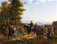 le départ pour la chasse by friedrich karl joseph simmler