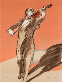 小提琴家 by claude weisbuch