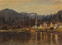 untitled - indian church at capilano reserve, lion's gate, north vancouver by a. lee rogers
