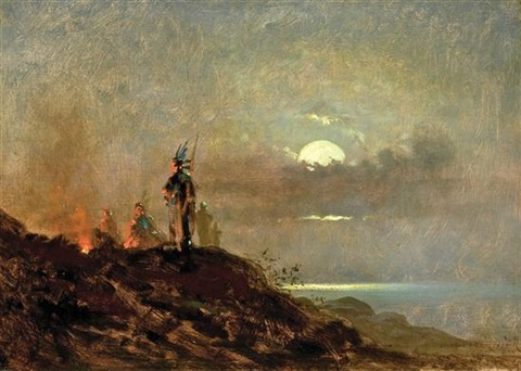 the campfire by jules tavernier