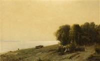 landschaft mit fluss by sergei ivanovich vasil'kovsky