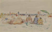 figures at the beach by bernard gussow