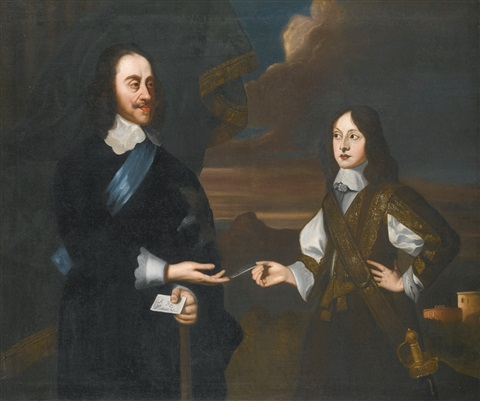 portrait of charles i with his son james duke of york by sir peter lely
