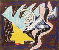 a hungry cat ate up the goat, plate 2 (from illustrations after el lissitzy's had gadya) by frank stella