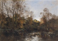 waldweiher by leon germain pelouse