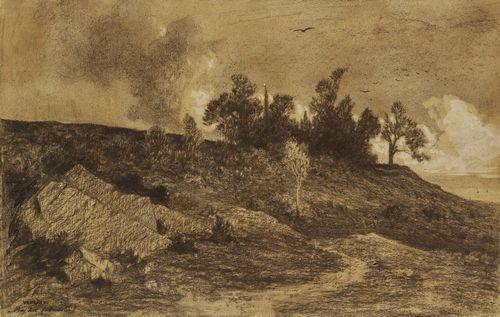 turquie paysage de bey koz en anatolie by charles théodore frère bey frère