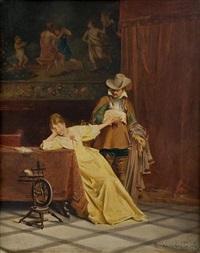 baroque theatre - love scene by casimir van den daele