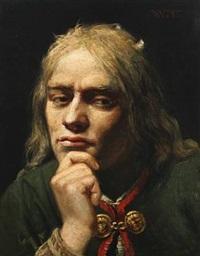 portræt af ung mand by wenzel ulrik tornoe