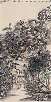 寒家吟晓 (landscape) by xu liyan