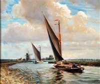 wherries on the norfolk broads by charles mayes wigg
