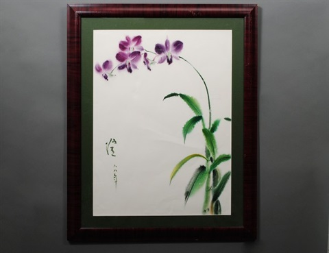 purple orchid by chang chieh