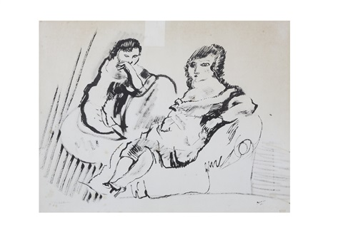 dames au salon by jules pascin