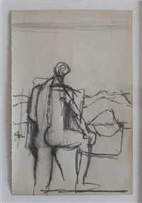 figure in a landscape by keith vaughan