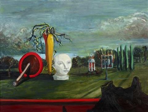 surrealist landscape by george condo
