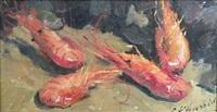 nature morte aux crevettes by louis edouard garrido