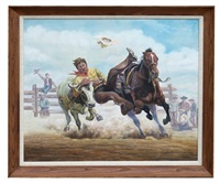 steer wrestling cowboy by gregory perillo