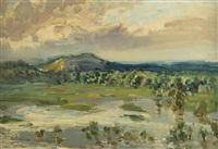 river landscape by nicolas gluschenko
