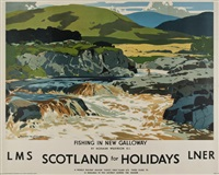 scotland for holidays, lms, lner by norman wilkinson