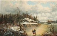 skating in winter by william charles anthony frerichs