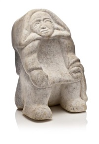seated woman by qaqaq ashoona