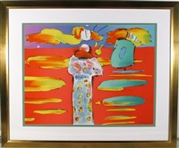 monk at the red sea by peter max