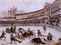 una corrida de toros by victor-jean adam