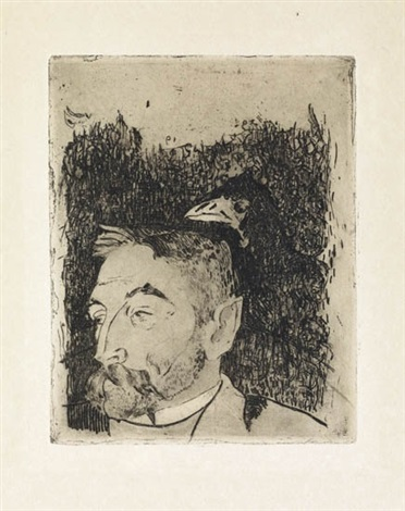 portrait de stephane mallarme by paul gauguin